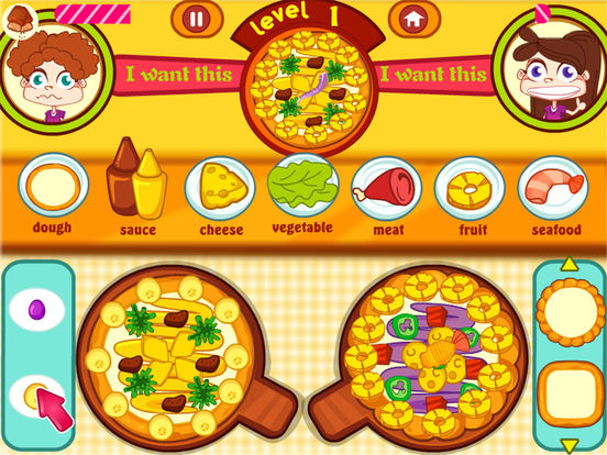 app shopper elena cuisine pizza jeux de cuisine games. Black Bedroom Furniture Sets. Home Design Ideas
