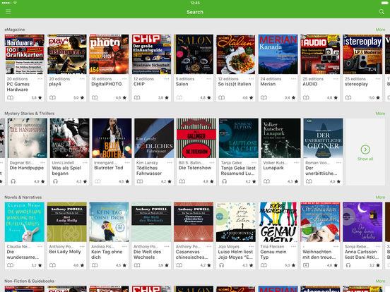 Onleihe iPad Screenshot 1