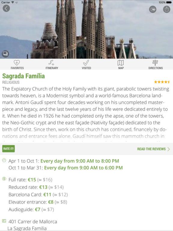 Barcelona Travel Guide (with Offline Maps) Screenshots