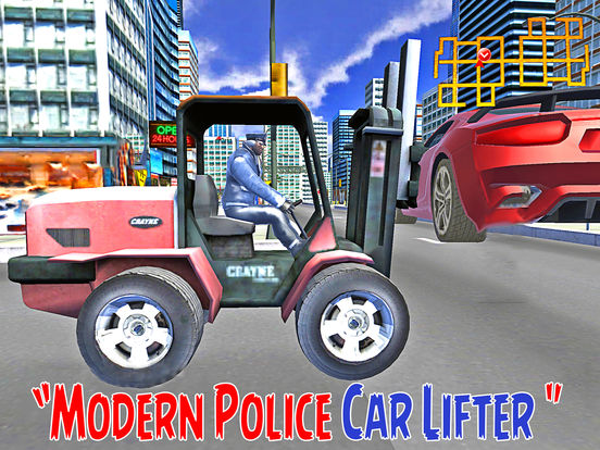 Modern City Police Car Lifter Pro screenshot 6