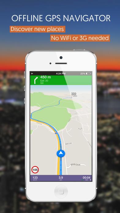 Central African Republic, Offline Auto GPS screenshot 1