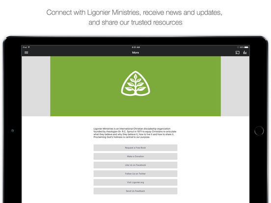 Ligonier Ministries iPad Screenshot 5