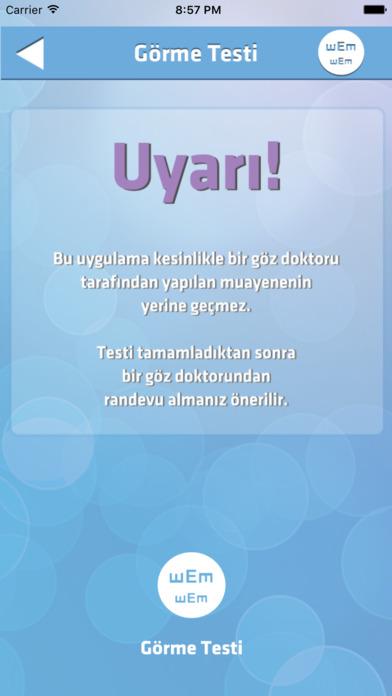 Göz Testi Pro Apps for iPhone/iPad screenshot