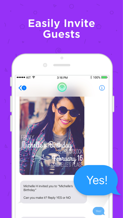 Hobnob Invites: Invitations, RSVP by Text Message screenshot 2