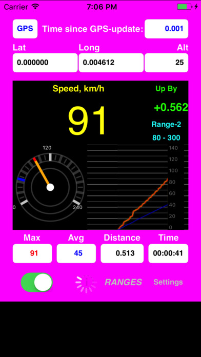 AudibleSpeed (GPS Speed Monitor) - Express Edition Screenshots