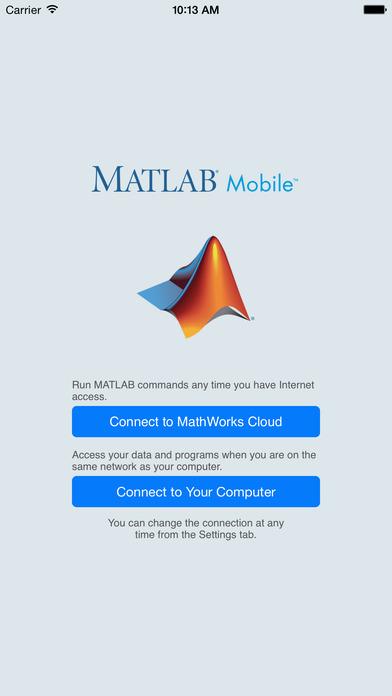 MATLAB Mobile iPhone Screenshot 1
