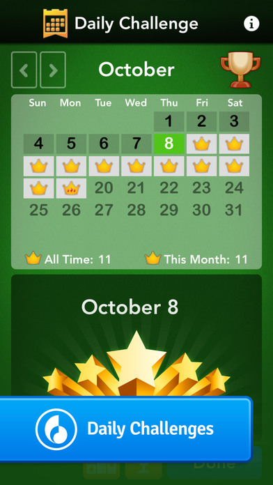 Spider Solitaire by MobilityWare iPhone Screenshot 3