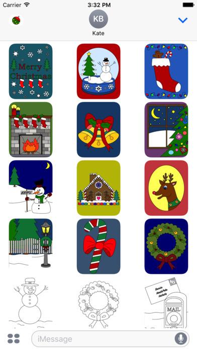 My Holiday Coloring Book Free iPhone Screenshot 8