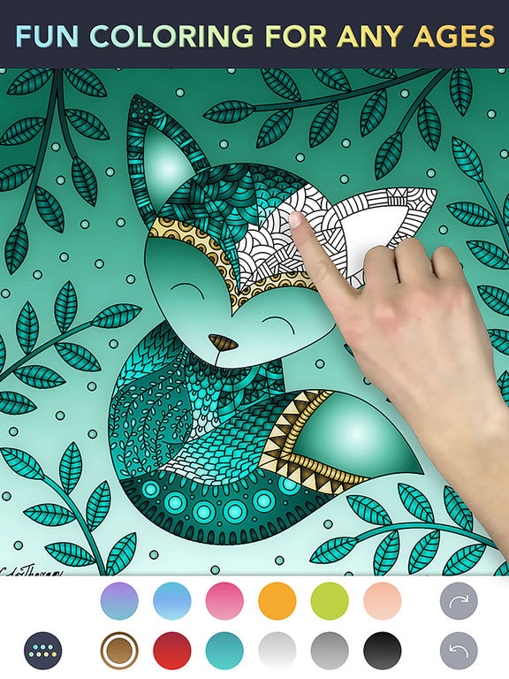 Ipad Coloring Book Le Pencil : Color therapy adult coloring book for adults on the app store