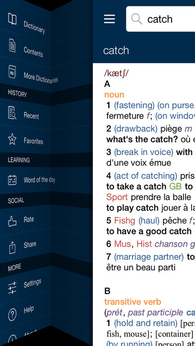 Oxford-Hachette French Dictionary Screenshots