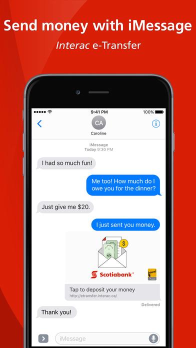 Scotiabank iPhone Screenshot 1