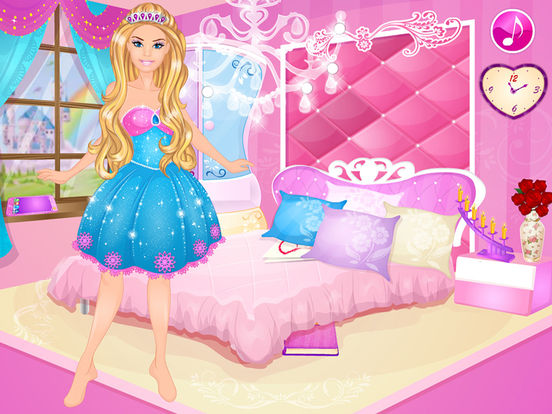 App shopper design room princess dress up girls games winx for All barbie house decoration games