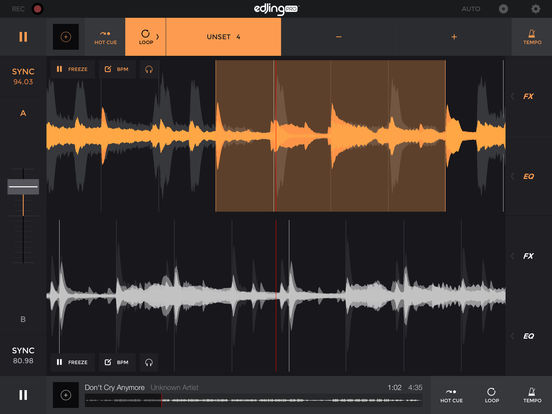 edjing Pro DJ Music Mixer: turntable to remix MP3 Screenshots