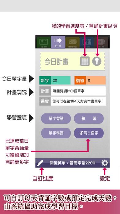 關鍵英單:進階字彙4401-7000 Apps for iPhone/iPad screenshot