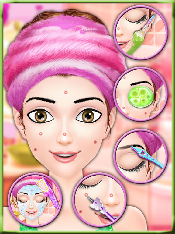 Screenshot #1 for Valentine Beauty Salon - Date Party Makeover Game
