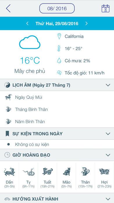 Tử Vi 2017 - Lịch Âm Apps free for iPhone/iPad screenshot