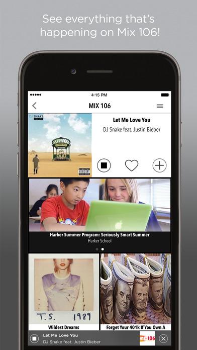 Mix 106.5 iPhone Screenshot 1