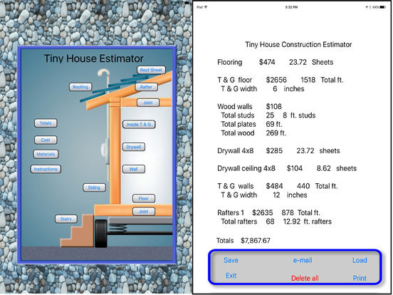 Tiny house construction estimator on the app store for Application ipad construction maison