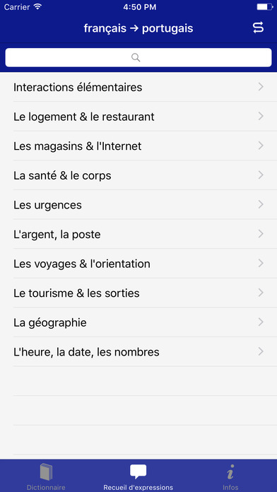 Coffret Linguistique français-portugais Accio iPhone Screenshot 2