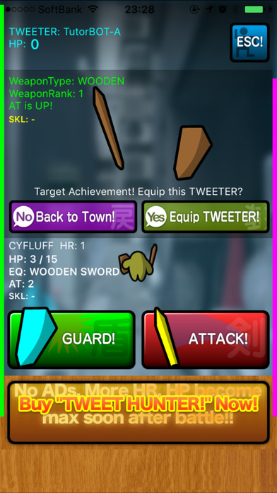 TWEET HUNTER! Lite iPhone Screenshot 1