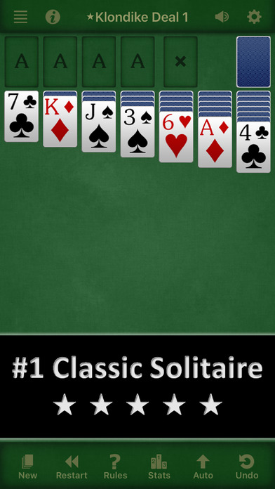 Screenshots of Solitaire Free for iPhone & iPad for iPhone