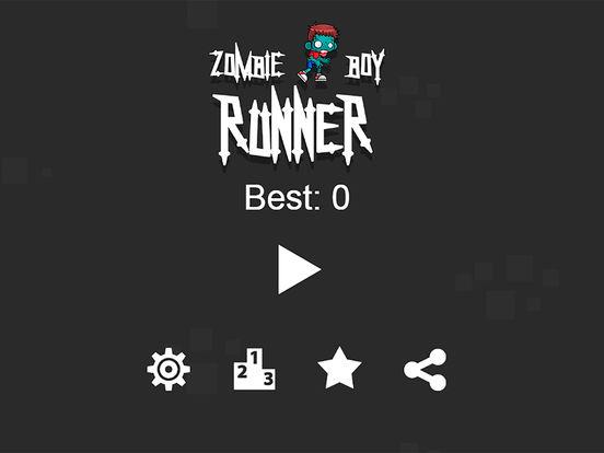 Zombie Boy Runner iPad Screenshot 1
