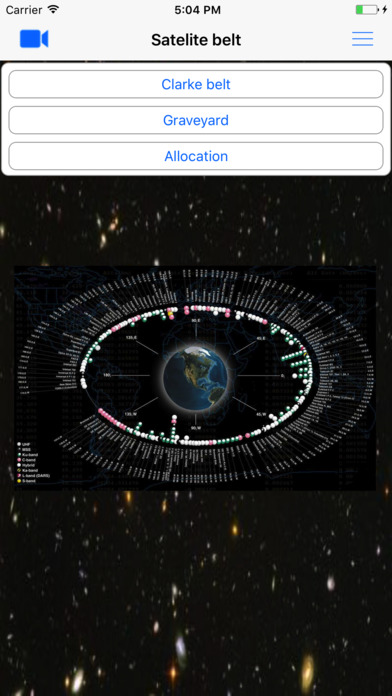 SatelliteBelt iPhone Screenshot 1