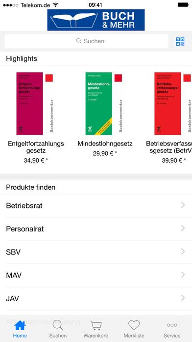 Buch & Mehr iPhone Screenshot 2