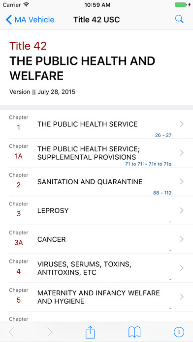 The Public Health and Welfare (Title 42 United States Code) iPhone Screenshot 1