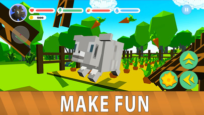 Blocky Sheep Farm 3D Full screenshot 2