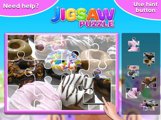 Screenshot #4 for Sweet Donuts Jigsaw Puzzle - Sweet Logic Game