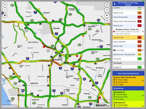 Sigalert.com - Live traffic reports iPad Screenshot 1