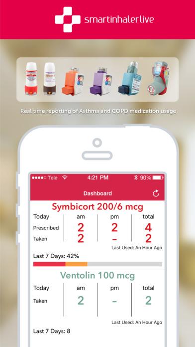 SmartinhalerLive iPhone Screenshot 1