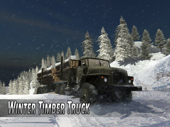 Winter Timber Truck Simulator Full screenshot 5