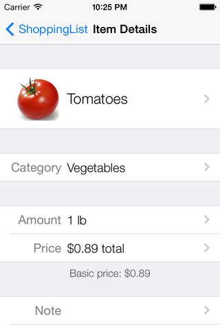 ShoppingList for iPhone + iPad screenshot 1