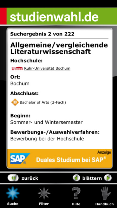studienwahl.de iPhone Screenshot 4