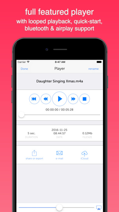 Instant Audio Recorder iPhone Screenshot 2