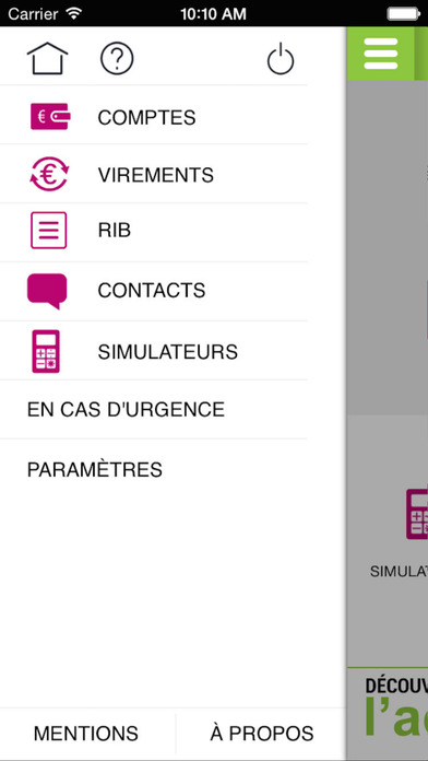 G Banque iPhone Screenshot 2