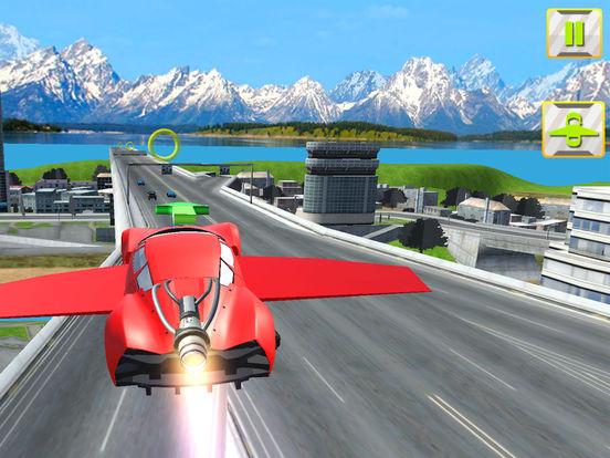 Futuristic Flying Car 3D screenshot 8