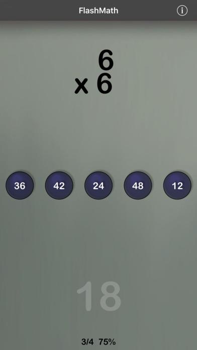 FlashMath (math flash cards) iPhone Screenshot 2