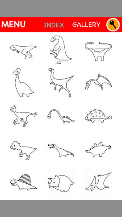 Dino Coloring for Kids : iPhone edition iPhone Screenshot 5