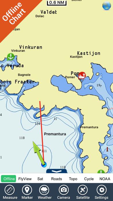 Marine: Nord Adriatico (Adriatic North) - GPS Map Navigator iPhone Screenshot 3