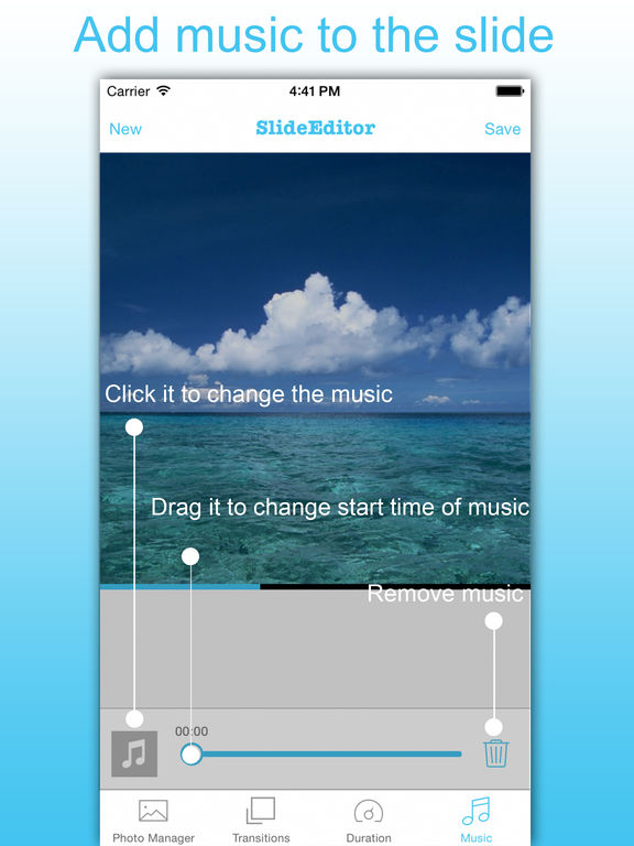 Screenshots of SlideShow Maker - Picture Video & Movie With Music for iPad