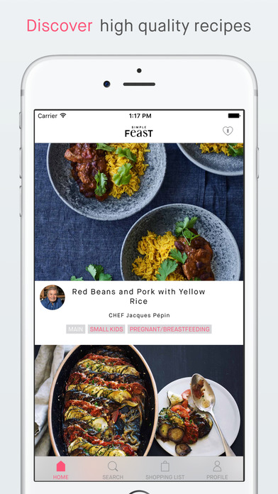Simple Feast - recipes and shopping list app image