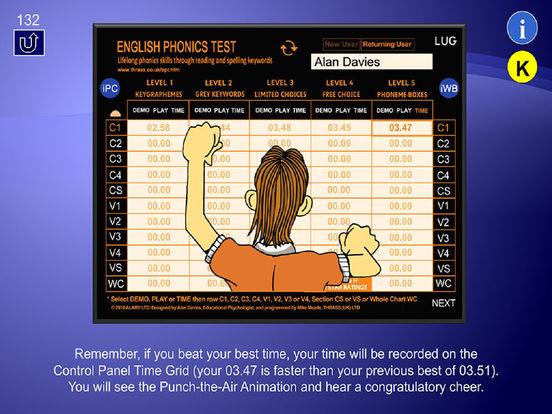 English Phonics Test - Learner User Guide iPad Screenshot 5