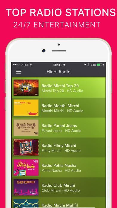Hindi Radio iPhone Screenshot 1