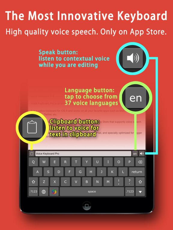 Voice Keyboard Pro™ text to speech & translate app Screenshots