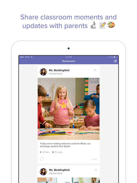 Screenshots of ClassDojo for iPad