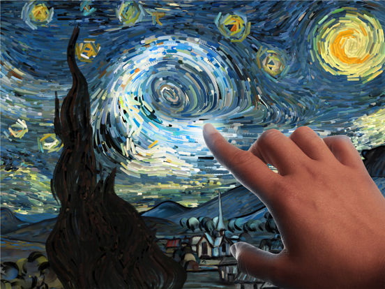 Screenshot #2 for Starry Night Interactive Animation