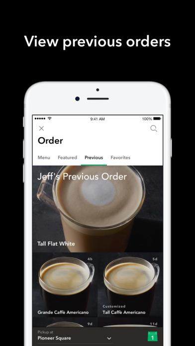 Screenshots of Starbucks for iPhone